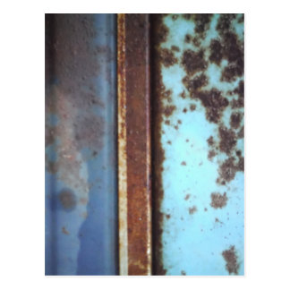 Blue and teal rusty truck close-up postcards