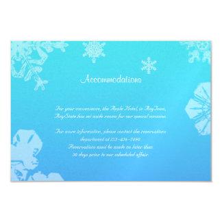Blue and Teal Snowflake Posh Wedding Insert 3.5x5 Paper Invitation Card