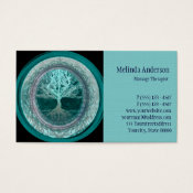 Blue and Teal Tree of Life Business Card (<em>$27.45</em>)