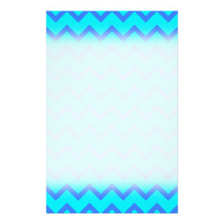 Blue and Teal Zigzag Pattern. Flyer