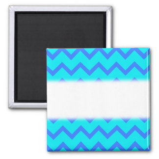 Blue and Teal Zigzag Pattern. Magnet