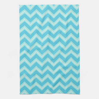 Blue and Turquoise Chevron Towels