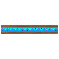Blue and turquoise Designs in Stripes Ruler