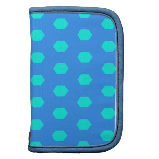 Blue and Turquoise dots pattern Planner