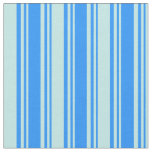 [ Thumbnail: Blue and Turquoise Lines Fabric ]
