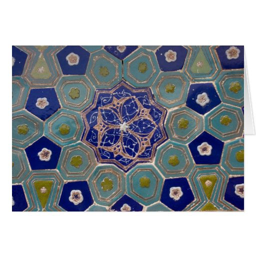 Blue and Turquoise Maiolica Tiles Card