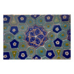 Blue and Turquoise Maiolica Tiles Poster