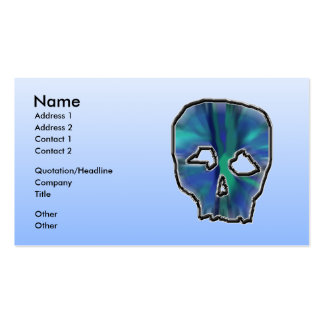 Blue and Turquoise Skull. Business Card