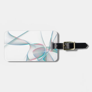 Blue and violet abstract petals luggage tag