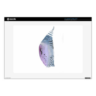 Blue and violet cocoon laptop skin