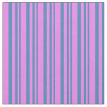 [ Thumbnail: Blue and Violet Pattern of Stripes Fabric ]