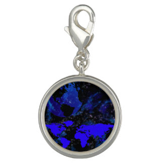 Blue And Violet World Photo Charms