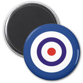 BLUE AND WHITE 2 INCH ROUND MAGNET