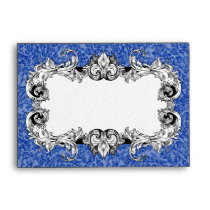 Blue and White A6 Gothic Baroque Envelopes