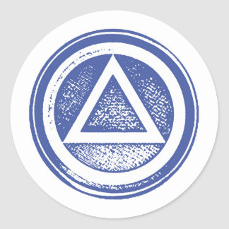 Blue and White AA Recovery Sobriety Sticker