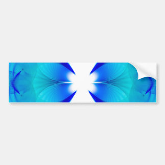 Blue and White Abstract Bumper Sticker
