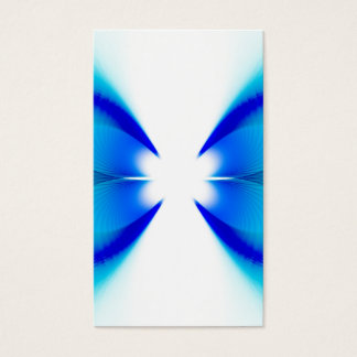 Blue and White Abstract Business Card