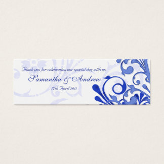 Blue and White Abstract Floral Favour Tags