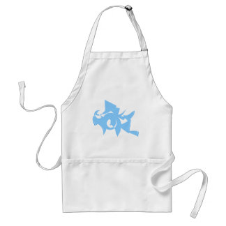 Blue and White Abstract Geometric Graphic. Aprons