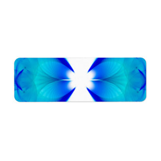 Blue and White Abstract Label