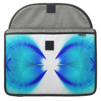 Blue and White Abstract Sleeve For MacBooks