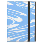 Blue and White Abstract Pattern iPad Cover