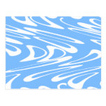 Blue and White Abstract Pattern Postcards