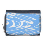 Blue and White Abstract Pattern Wallet