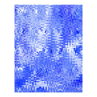 Blue and White Abstract Ripple Pattern Design Letterhead Template