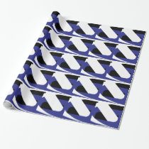 Blue and White Abstract Wrapping Paper