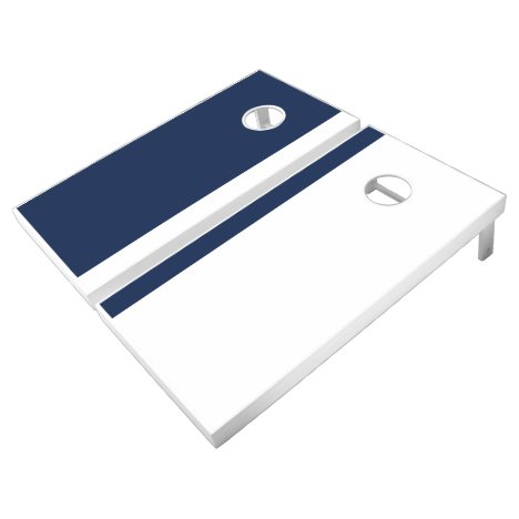 Blue and White Add Your Logo Cornhole Set
