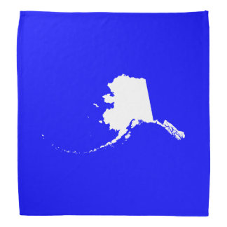Blue and White Alaska Bandana