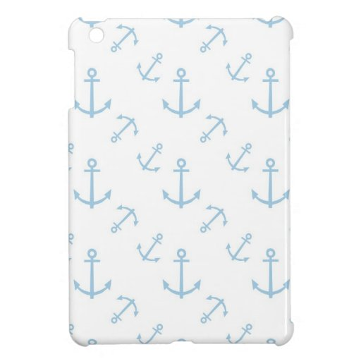 Blue and White Anchors Case For The iPad Mini