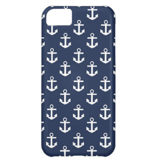 Blue and White Anchors iPhone 5C Covers