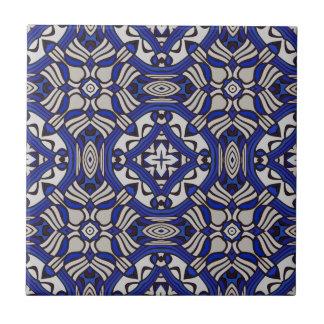 Blue and white Arabesque Ceramic Tile