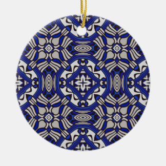 Blue and white Arabesque Christmas Ornaments