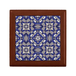 Blue and white Arabesque Jewelry Box