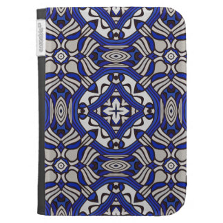 Blue and white Arabesque Kindle 3G Covers