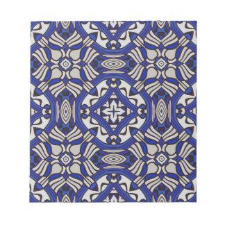 Blue and white Arabesque Memo Note Pad