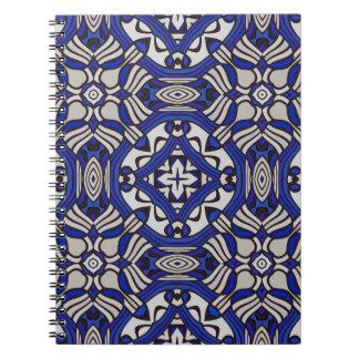 Blue and white Arabesque Notebooks