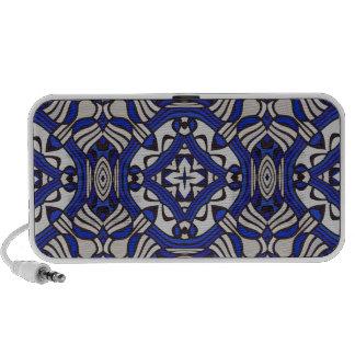 Blue and white Arabesque Portable Speaker