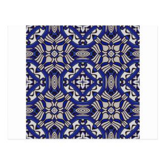 Blue and white Arabesque Postcards