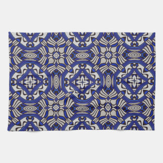 Blue and white Arabesque Towels