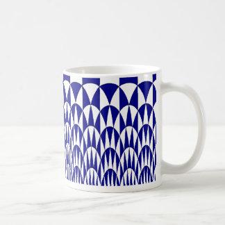 Blue and White Arches Mug