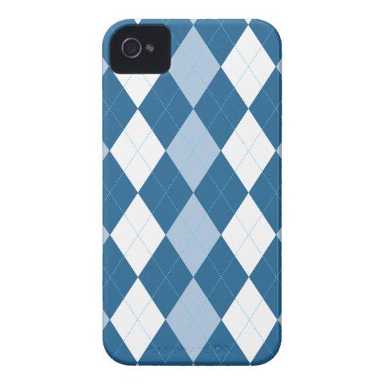 Blue and White Arglye iPhone 4 Case