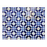 Blue and White Azulejo Cartão Postal