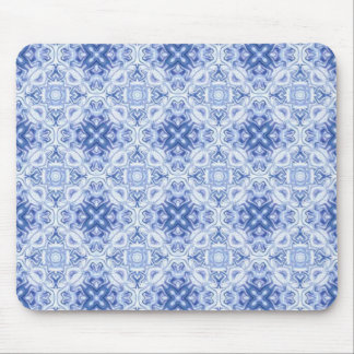 Blue and white background mouse pad