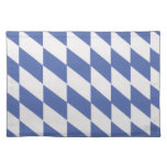 Blue and white banner placemats