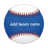 Blue and White Baseball