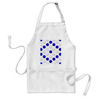 Blue and White Basketball Pattern Adult Apron